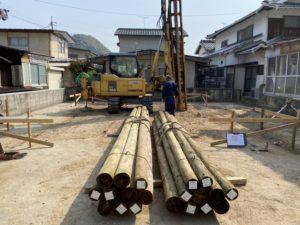 環境パイルによる改良工事